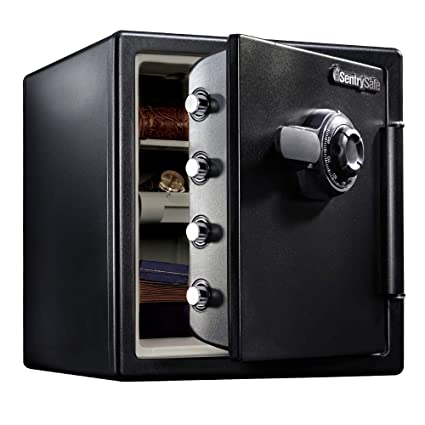 SentrySafe SFW123CU Fireproof Safe and Waterproof Safe with Dial  Combination 1 23 Cubic Feet