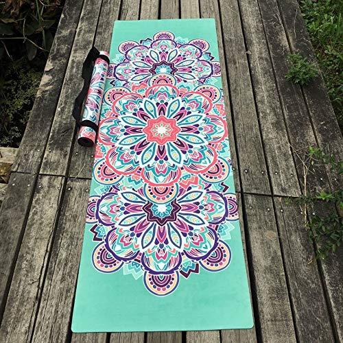 YOOMAT Schönes Design Blume Naturkautschuk Yoga-Matte umweltfreundliche Rutschfeste Hot Yoga Beste Yoga-Matte für heiße Yoga Fitness Gym Matte