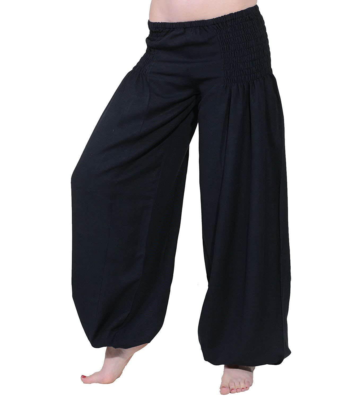 Kunst und Magie Wellnesshose Pluderhose Sommerhose Hippie Goa Yoga Hose