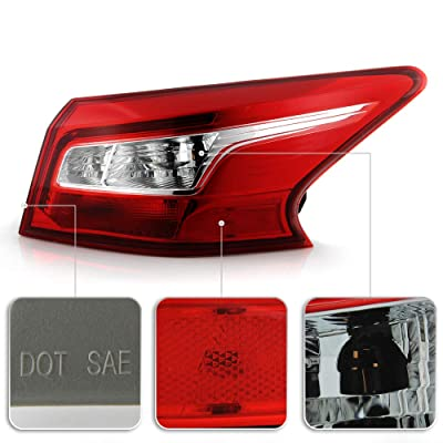 for 2016-2018 Nissan Sentra Tail Light Rear Lamp Assembly Replacement Go-Parts Driver Left 26555-3YU0A NI2804108 Replacement 2017