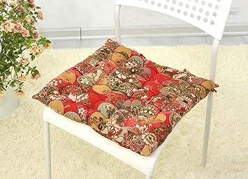 Amazon.com: YJ Bear algodón cuadrado cojín de silla de ...