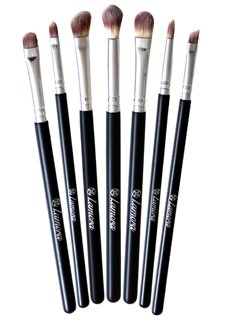 Makeup Eye Brush Set - Eyeshadow Eyeliner Blending Crease Kit - Best Choice 7 Essential Makeup Brushes - Pencil, Shader, Tapered, Definer - Last Longer, Apply Better Makeup & Make You Look Flawless!