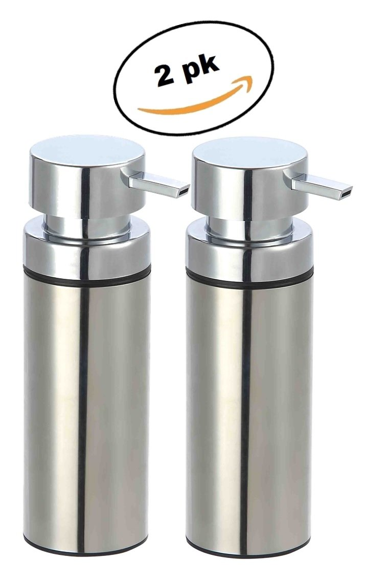 decorative bathroom soap dispensers.htm amazon com deluxe stainless steel soap dispenser liquid soap 2  deluxe stainless steel soap dispenser