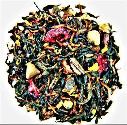 Wild Cherry Black Tea - Nelson's Tea Dark Chocolate Cherry Pu'erh black loose leaf tea (Pu'erh, safflower, hibiscus, carob beans, wild cherry bark, dried cherries, chocolate chips, natural flavoring)(4 oz.)