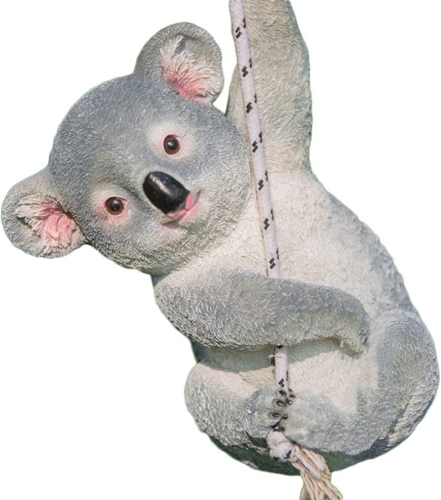 Yardwe Garden Resin Koala Statue Figurine Outdoor Sculpture Garden Patio Yard Lawn Decorations Ornaments
