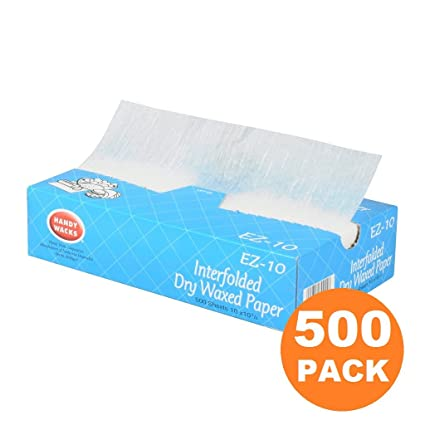 amazon com 500 pack interfolded food and deli dry wrap wax paper