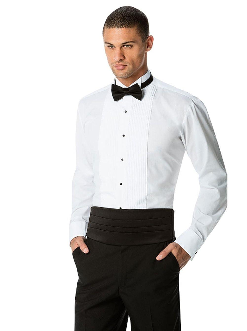 Neil Allyn Mens Tuxedo Shirt 100/% Cotton 1//4 Pleat Wing Collar