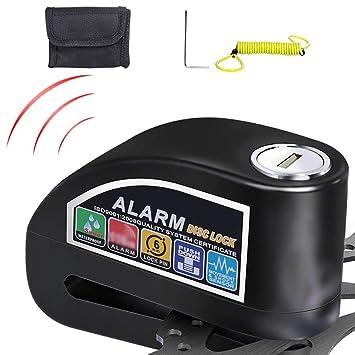 Candado Disco Moto con Alarma Antirrobo Impermeable 110dB ...