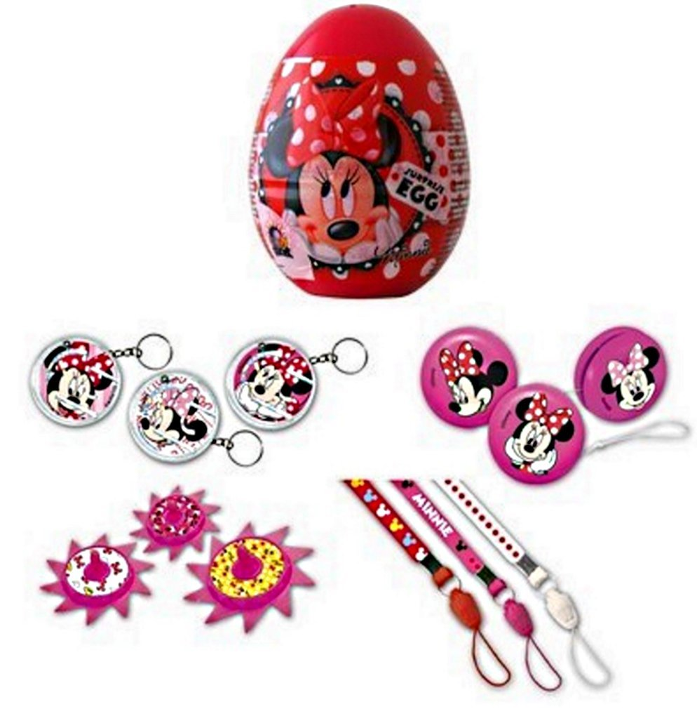 1 OEUF SURPRISE MINNIE MOUSE STICKERS COOKIE 7.5 CM DISNEY