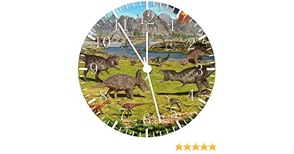Borderless Dinosaurs Frameless Wall Clock W34 Nice For Decor Or Gifts