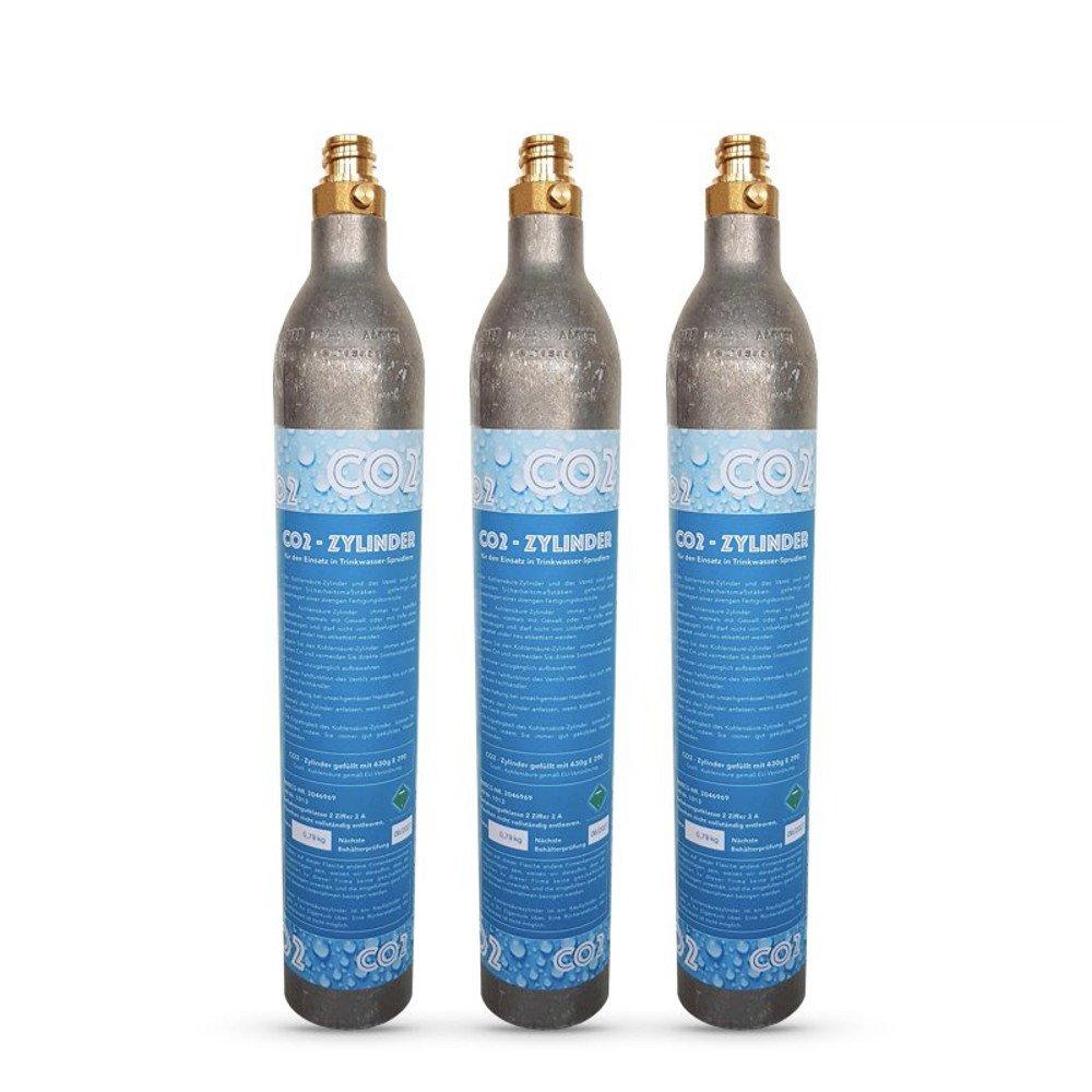 3 x CO2 Zylinder geeignet fü r Soda Stream Wassersprudler Crystal Sodastream, Cool etc. Bis zu 60 Liter Sprudelwasser pro Fü llung CO2 gefü llt! Neues Wasser Group