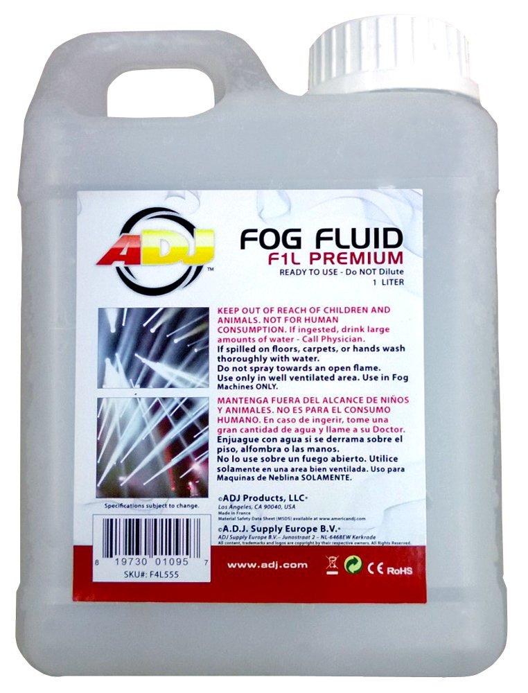 ADJ Products F1L555 PREMIUM Water Based Fog Liquid, 1-Liter F1L PREMIUM