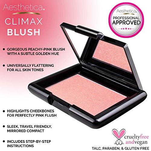 Aesthetica Blush Compact - Translucent Pressed Powder Blush, 0.16 oz