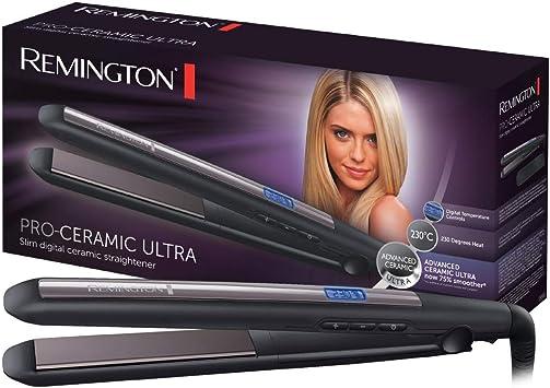 Oferta amazon: Remington Pro Ceramic Ultra S5505 - Plancha de Pelo, Cerámica Avanzada, Digital, Placas Extra Largas, Negro y Morado
