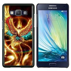 """Be-Star Único Patrón Plástico Duro Fundas Cover Cubre Hard Case Cover Para Samsung Galaxy A5 / SM-A500 ( Oro brillante Phoenix Wings criatura mística"""" )"""