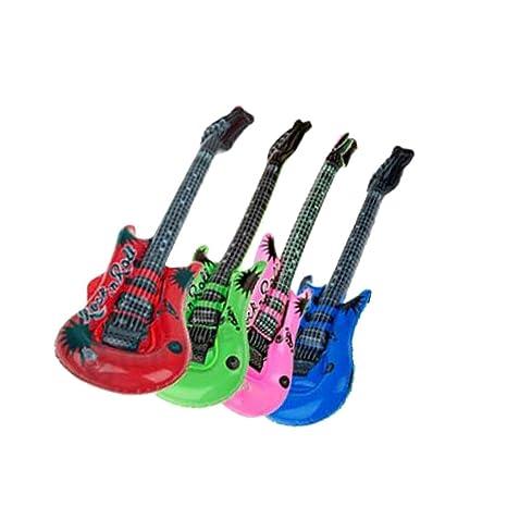 312d3f897f190 Baoblaze ギターバルーン エアー ギター 楽器おもちゃ 色ランダム 風船 パーティー ...
