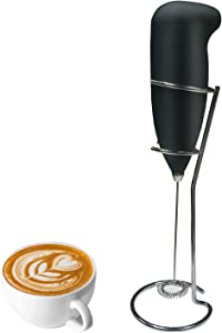 Milk Frother Handheld Foam Maker for Lattes - Whisk Drink Mixer for Bulletproof Coffee, Electric Whisk for Cappuccino, Frappe, Matcha, Hot Chocolate