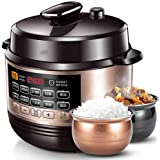 Multi-Cooker Electric Pressure Cooker, Steams, Slow Cooker, Saute, Rice Cooker, Yoghurt Maker and Warmer with Programmable Timer Finished, 6 litres