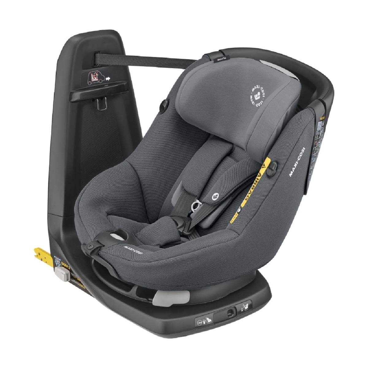 Maxi-Cosi AxissFix Toddler Car Seat, Swivel Car Seat, 4 months - 4 years, 61 - 105 cm, Authentic Graphite