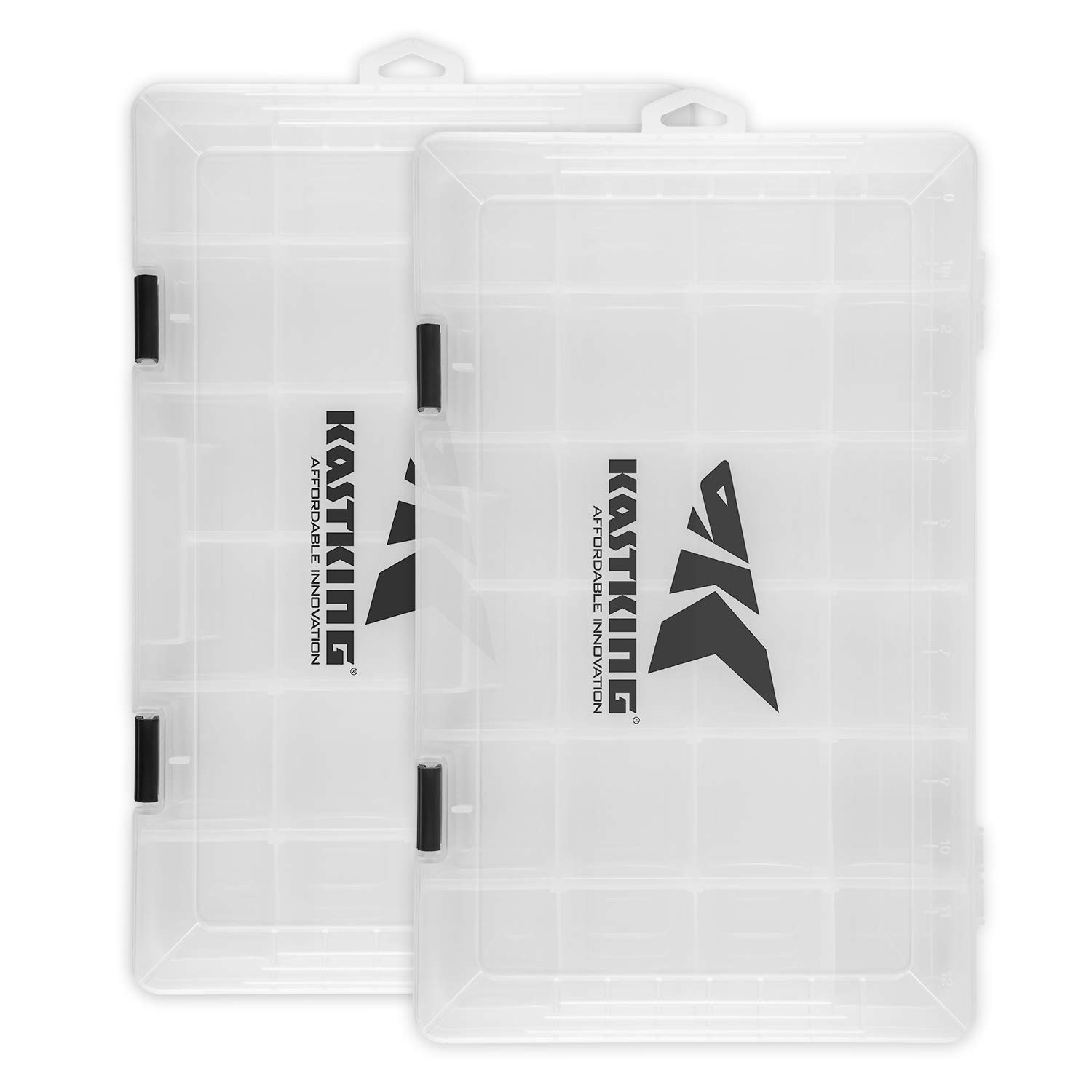 KastKing Tackle Boxes, Tool Box, Plastic Storage Organizer Box with Removable Dividers- Fishing Tackle Storage - Box Organizer - 2 Packs /4 Packs Tackle Trays - Parts Box