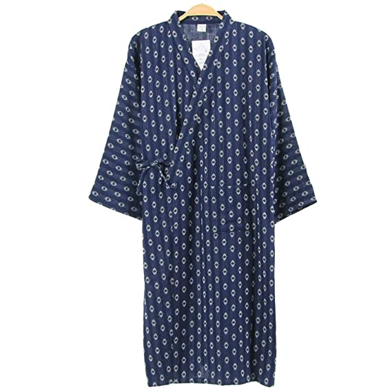 698f200ffd Image Unavailable. Image not available for. Colour  Men s Japanese Style  Robes Pure Cotton Kimono ...