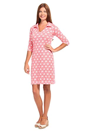 Malabar Bay Womens Starfish Hamilton Dress Extra-Small Coral
