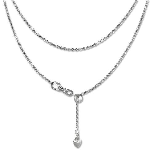 SilberDream Collier Echt 925 Silber 45cm Damen Halsschmuck Herz Silber  D1SDK22645J f91e568eb4