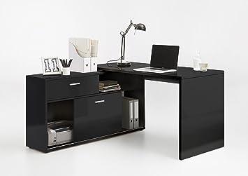 Lhs dievo superup noir laqué ordinateur bureau bureau d angle
