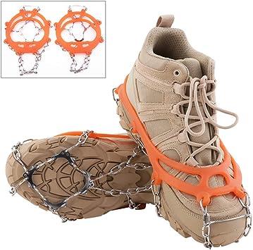 Aoutacc 10 tacos de crampones de tracción para hielo y nieve para mujeres, hombres y niños, botas de seguridad para proteger crampones ligeros, ...