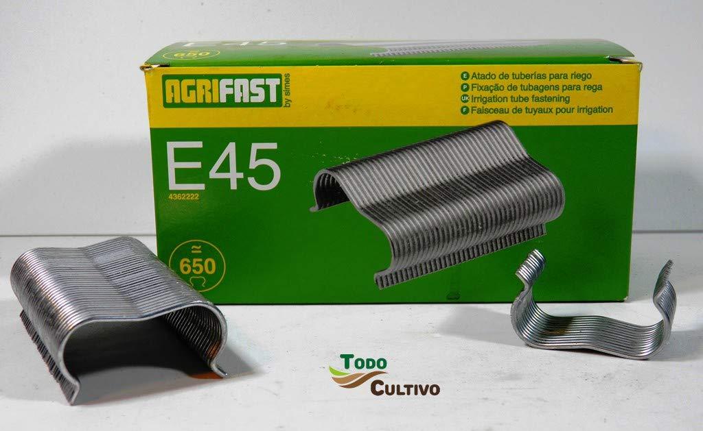 Todocultivo Grapa para Tubos de Goteo Agrifast E-45. Caja 650 Unidades: Amazon.es: Jardín