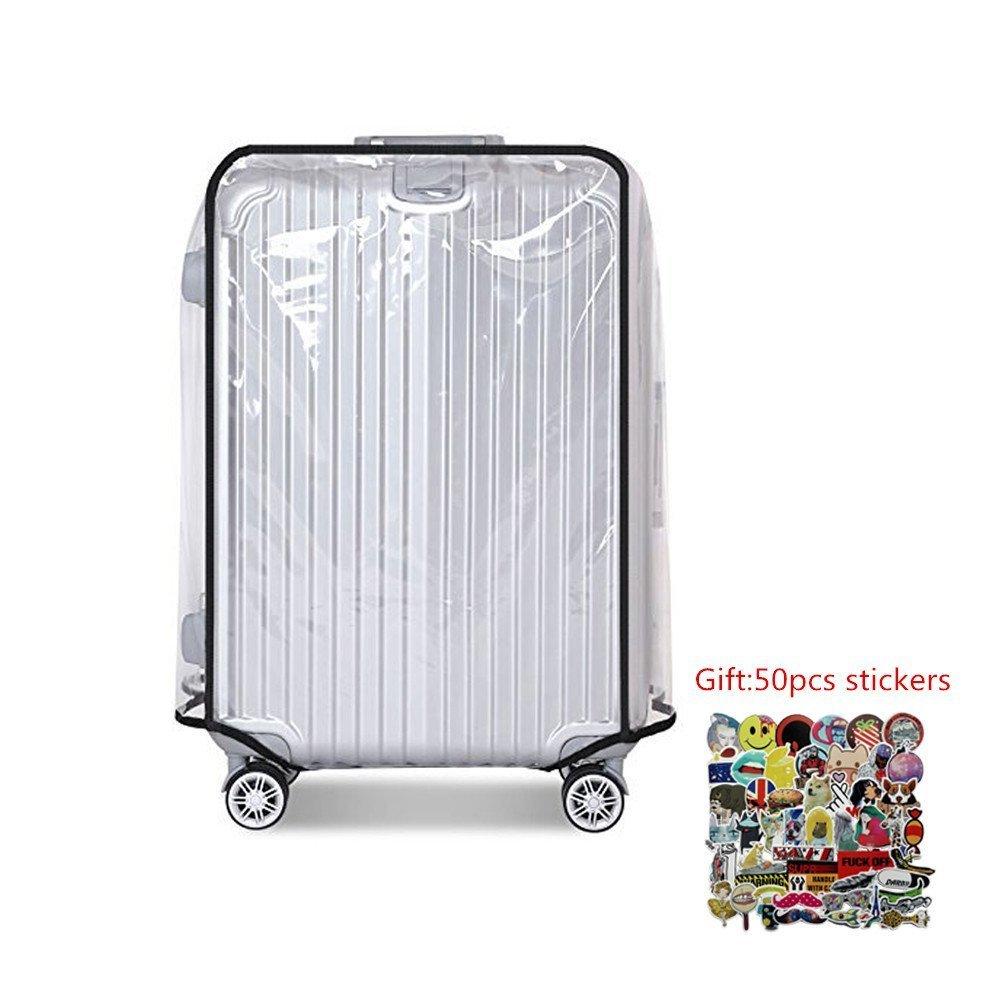 Protection Housse de valise à bagages en PVC transparent Compatible avec la plupart des 50,8cm 55,9cm 61cm 66cm 71,1cm 76,2cm, 20 (35cm L x 23cm W x 53cm H) lazy penguin