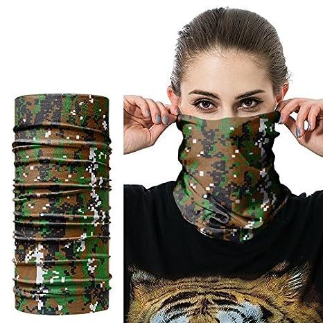Camouflage Blu//Gray//Green Bllomsem 3Pcs Balaclava Bike Motorcycle Helmet Neck Full Face Ski Mask Driving Mask