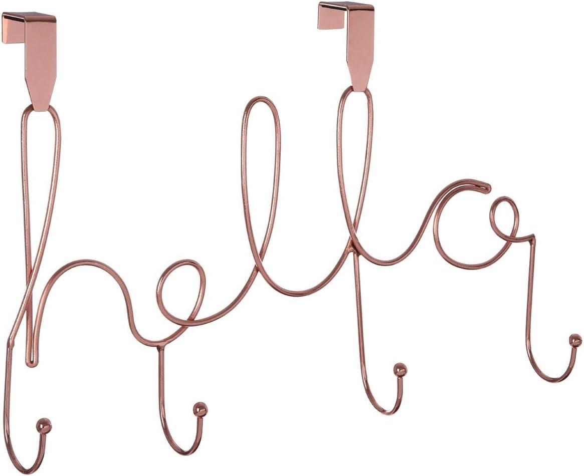 Iron One Size Premier Housewares Over Door Hanger Rose Gold
