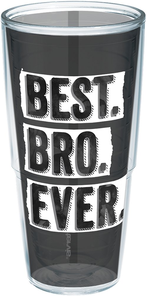 Tervis 1245391 Best Bro Ever Insulated Tumbler With Wrap 24 oz Clear