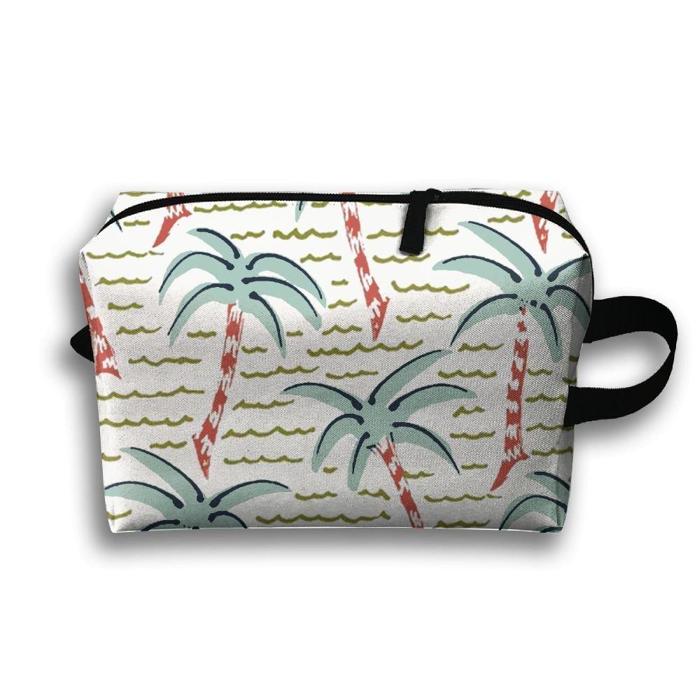 【最安値挑戦!】 cnjellaw Palm Tree Wave B07G2CG61M Cosmetic Wave Hanging Cosmetic Bag印刷メイクアップストレージポーチTravel Toiletry Case B07G2CG61M, 牧場直営玉家:0c5ff005 --- arianechie.dominiotemporario.com