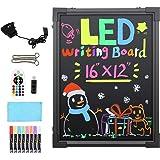 Art Glow Sensory LED Writing Drawing Board Electronic Neon Illuminated Erasable Board Kids Doddle Scribble Board Handwriting Pad Sensory Toy for Autism