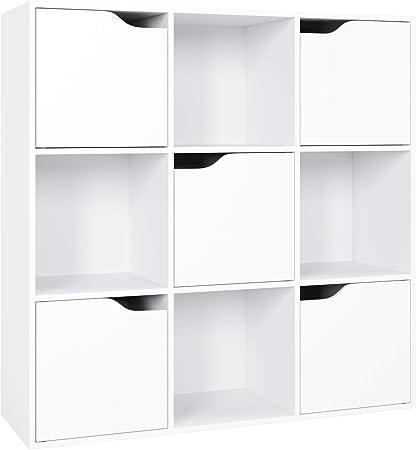 Material Resistente - La estantería librería está hecha de MDF, lo que garantiza su seguridad y su e
