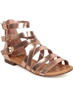 92df1031d7c Breckelle s Women Leatherette Open Toe Strappy Gladiator Sandal GG38