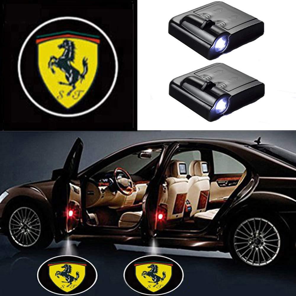 MIVISO 2 Pi/èce Porte de Voiture Sans Fil Led Bienvenue Laser Projecteur Bat Logo Lumi/ère Ghost Ombre Lampe