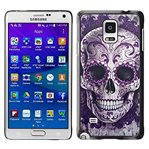 Impact Case Cover with Art Pattern Designs FOR Samsung Galaxy Note 4 Rock Roll Skull Bling Floral Death Metal Betty shop