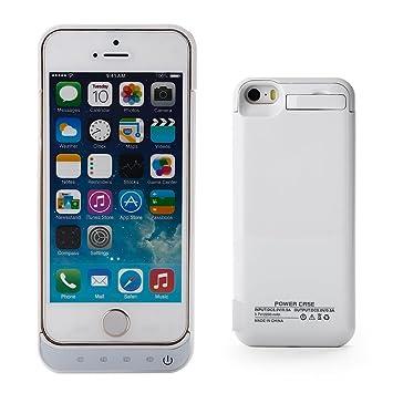 Invero® 2200 mAh batería Externa Recargable Carcasa con Tapa y función Atril se, para Apple iPhone 5S/5 – Todas Las Versiones