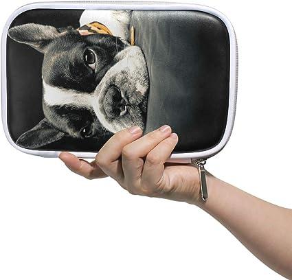 CPYang - Estuche para lápices con cremallera, diseño de bulldog francés: Amazon.es: Oficina y papelería