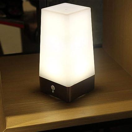 XDLUK Cuerpo Humano Inducción Luz Pequeño Inalámbrico LED Lámpara De Mesa Sensor De Movimiento Luces De