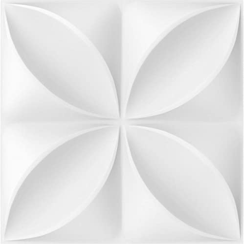 Ekena Millwork WP12X12HEWH-CASE-50 Helene EnduraWall Decorative 3D Wall Panel