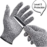 Cut Resistant Gloves, OMNi High Performance Glove for Kitchen or work, Food Grade EN388 Certified Level 5 Protection for Your Safety, X-Large (Large)