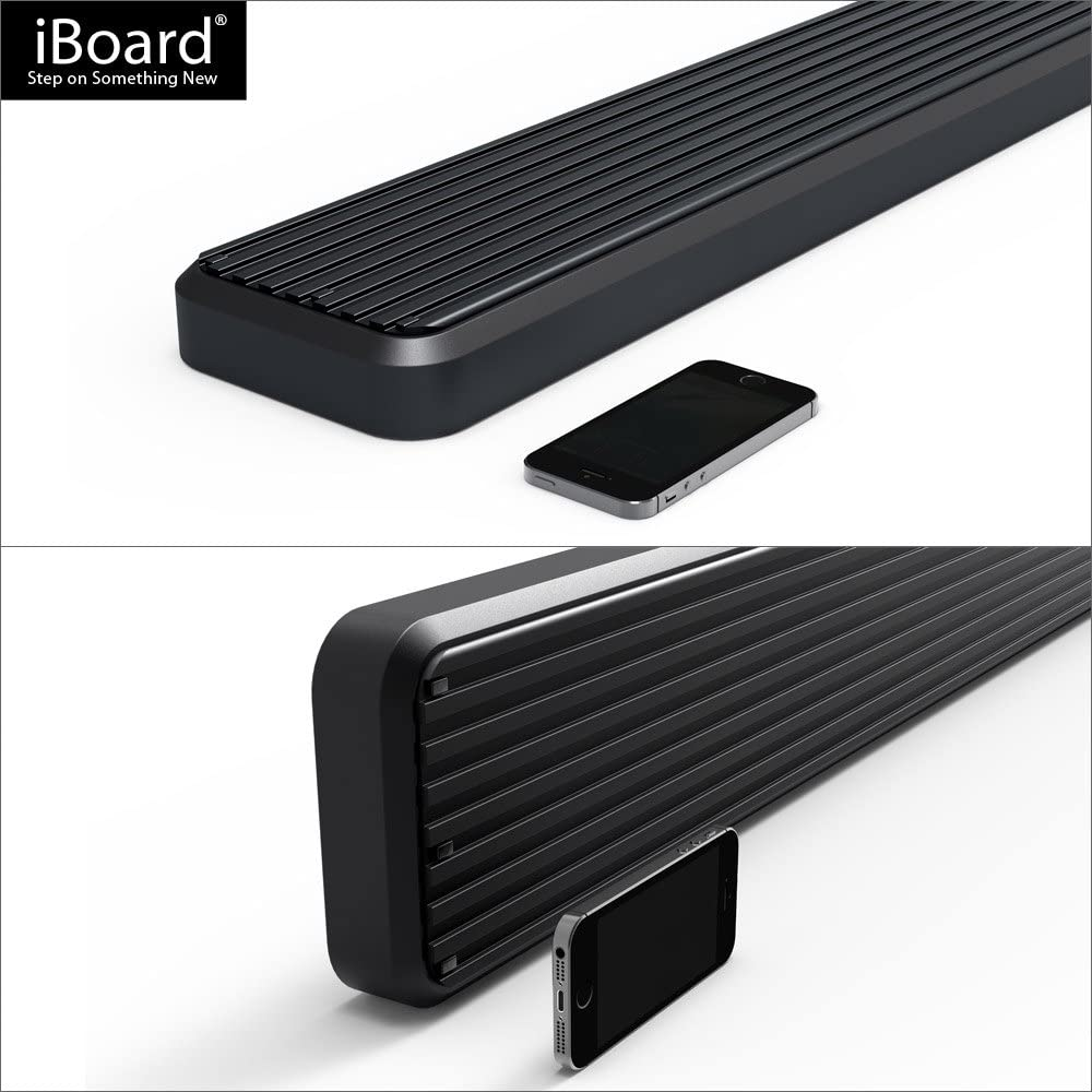 APS 6in Black iBoard Running Boards Custom Fit 15-20 Ford F150 SuperCrew Cab /& 17-20 F250