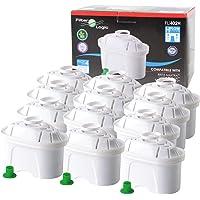 FilterLogic FL402H - 12 unidades - cartucho de filtro compatible con BRITA Maxtra para Elemaris / Marella / Navelia…