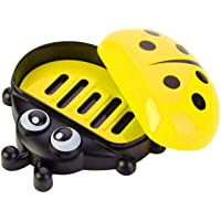 Baal Lady Bug Soap Box, Soap Box for Kids, Funky Soap Dish Soap Box, Pack of 1 (Yellow)