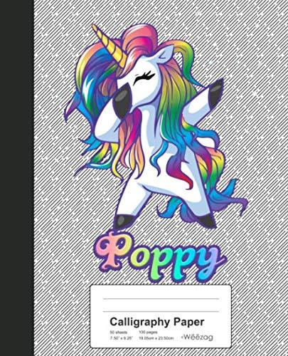 - Calligraphy Paper: POPPY Unicorn Rainbow Notebook (Weezag Calligraphy Paper Notebook)