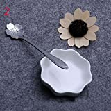 Amapower Stylist Tea Coffee Home Measuring Spoons Stainless steel Cherry Blossom